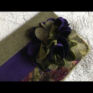 Green Velvet Clutch